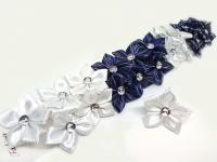 №10084 Резинки цветок с камнем 6см 20шт