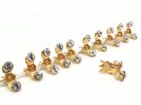№10251 Краб мини камни золото 12шт