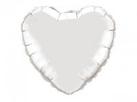№11258 fed_ Сердце 18 дюймов(45х45см) серебро Китай