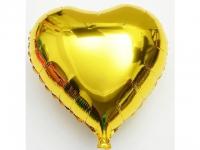 №11259 fed_ Сердце 18 дюймов(45х45см) золотое Китай