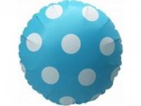 №11386 fed_ Фольга круг горошек синий 45х45см