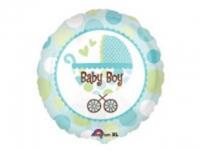 №11392 fed_ Шарик круг Baby Boy коляска No2 (голубой 45*45 см)