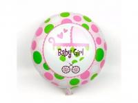 №11393 fed_ Шарик круг Baby Girl Коляска No2 розовый 45*45 см)