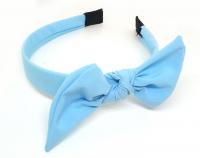№2367 Обруч бант голуб. шир.2.3см
