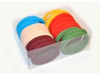 №2613 Резинка микрофибра цветная, диам. 5см