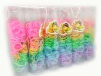 №27494 Резинки силиконовые цветные 12колб