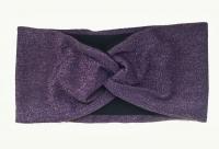 №2797 Повязка глиттерная на флисе фиолет.