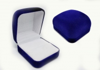 №5806 Коробочка бархат синяя квадратная