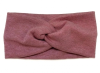 №8022 Повязка ангора королевская розовая 21х11см